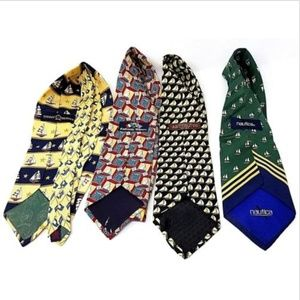 Accessories - Lot of 4 mens ties sailboats various brands